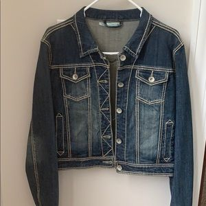 Maurice's Women's Large cropped denim jacket